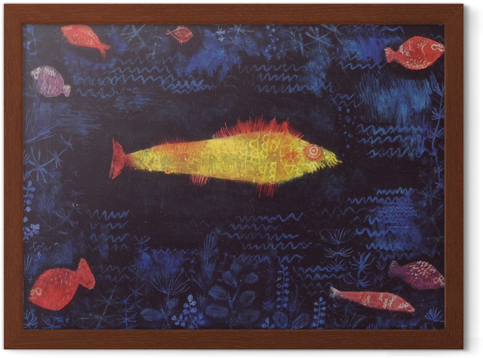 Paul Klee - The Goldfish Framed Poster - Reproductions