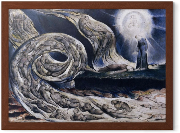 William Blake - The Lovers Whirlwind Framed Poster - Reproductions