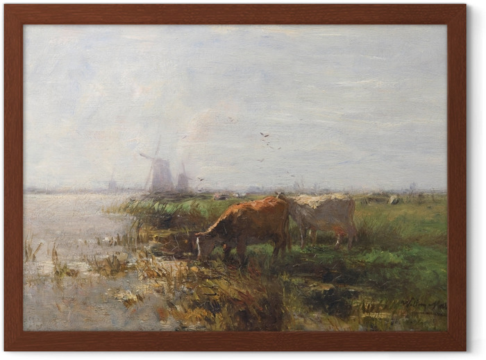 Jacob Maris - Pasture Framed Poster - Reproductions