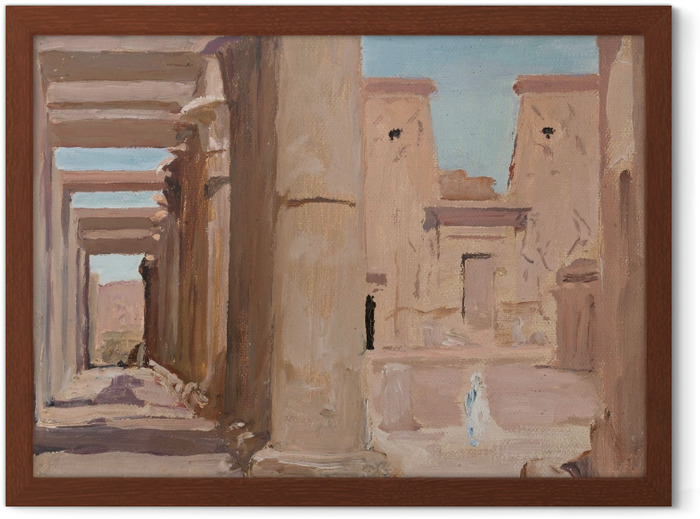 Jan Ciągliński - Temple. From the Journey to Egypt. Framed Poster - Reproductions
