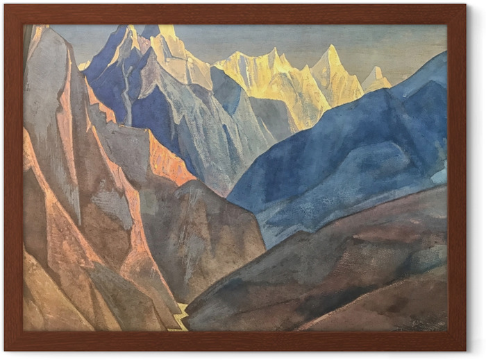 Nicholas Roerich - Mountain Study Framed Poster - Nicholas Roerich