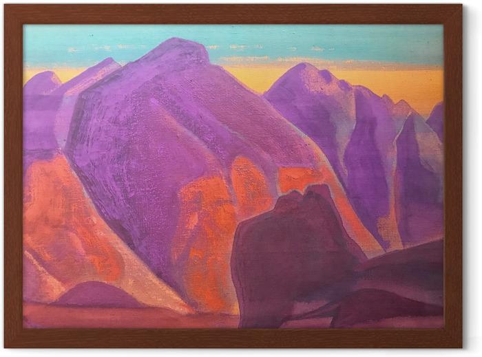 Nicholas Roerich - Mountain Study II Framed Poster - Nicholas Roerich