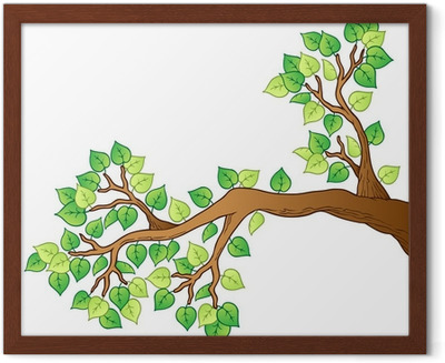 Cartoon Tree Branch With Leaves 1 Sticker Pixers We Live To Change Silhouette of three owls on branch. cartoon tree branch with leaves 1