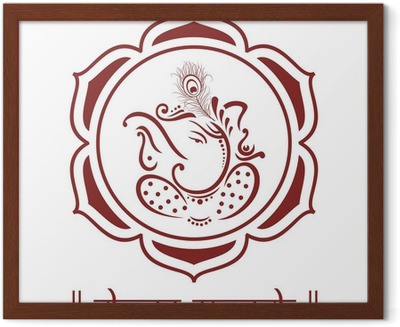 Ganesha Lotus Flower Hinduism India Wall Mural Pixers We
