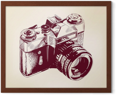 Camera Vintage Vector Png : Vintage old photo camera vector llustration throw pillow u2022 pixers