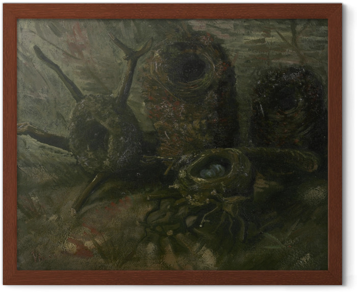 Póster Enmarcado Vincent van Gogh - Nidos de pájaros - Reproductions