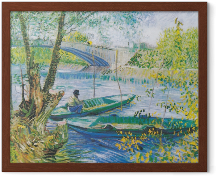 Vincent van Gogh - Fishing in Spring Framed Poster - Reproductions