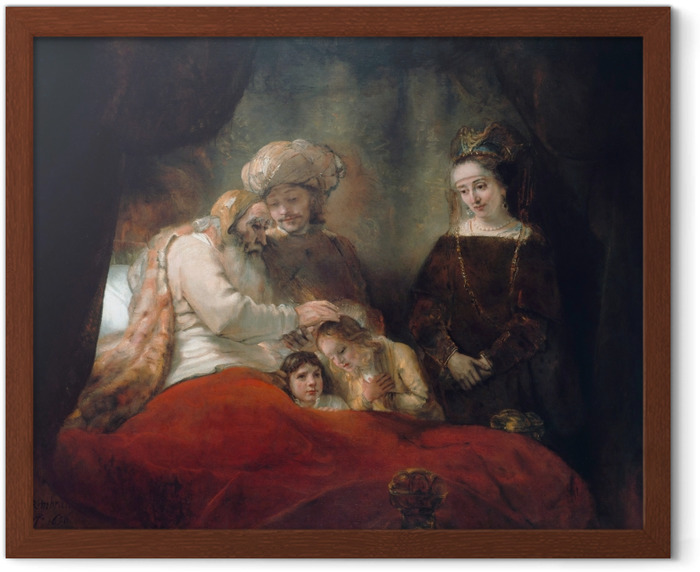 Póster Enmarcado Rembrandt - Bendición de Jacob - Reproducciones