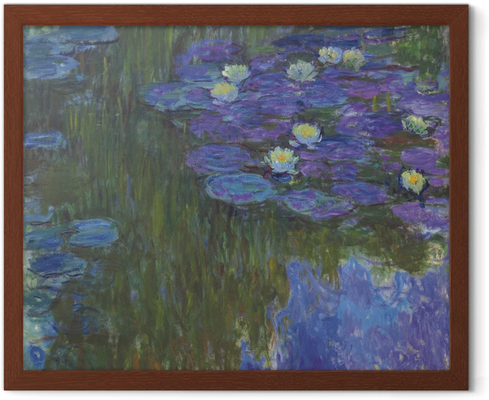Claude Monet - Water Lilies Framed Poster - Reproductions