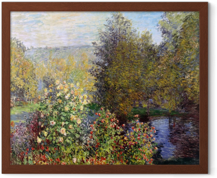 Claude Monet - Corner of the Garden at Montgeron Framed Poster - Reproductions