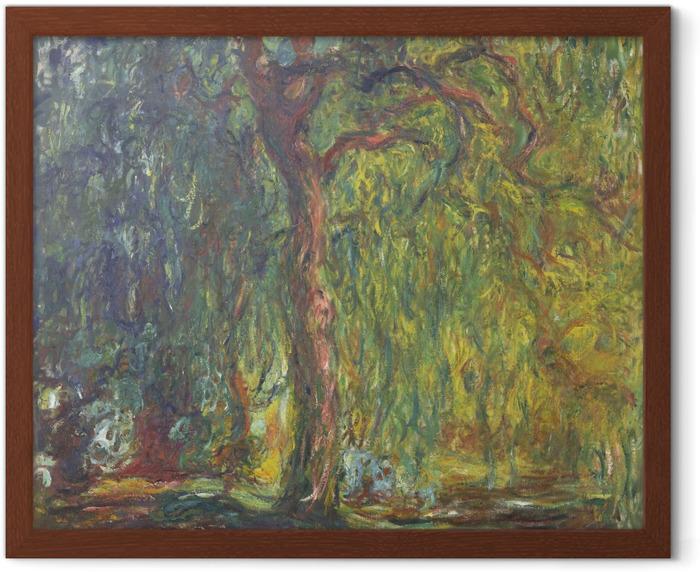 Gerahmtes Poster Claude Monet - Trauerweide - Reproduktion