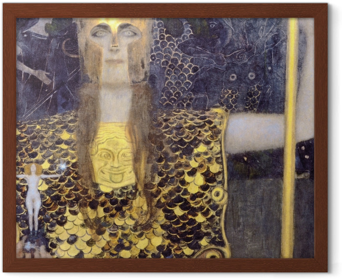 Gustav Klimt - Minerva or Pallas Athena Framed Poster - Reproductions