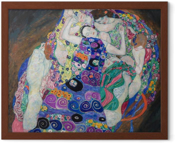 Gustav Klimt - The Maiden Framed Poster - Reproductions
