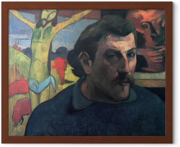 Poster in Cornice Paul Gauguin - Il Cristo giallo - Riproduzioni