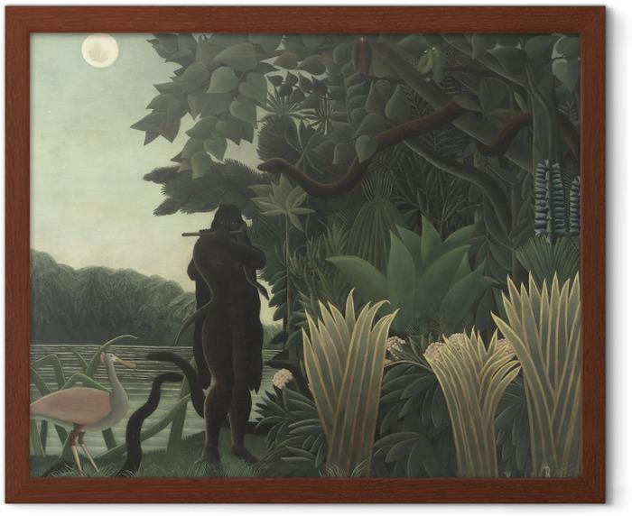 Henri Rousseau - The Snake Charmer Framed Poster - Reproductions