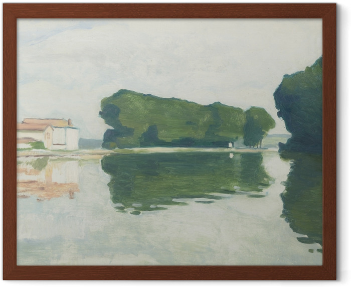Albert Marquet - Poplars on the Island of Samois Framed Poster - Reproductions