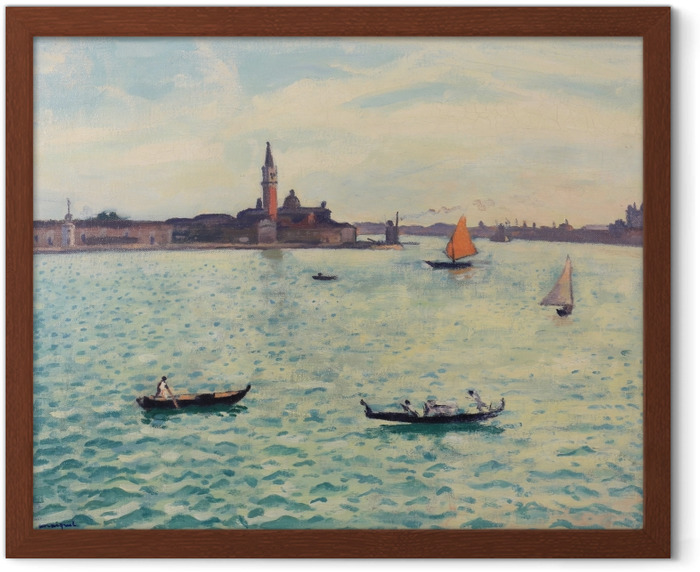 Albert Marquet - Venice Framed Poster - Reproductions