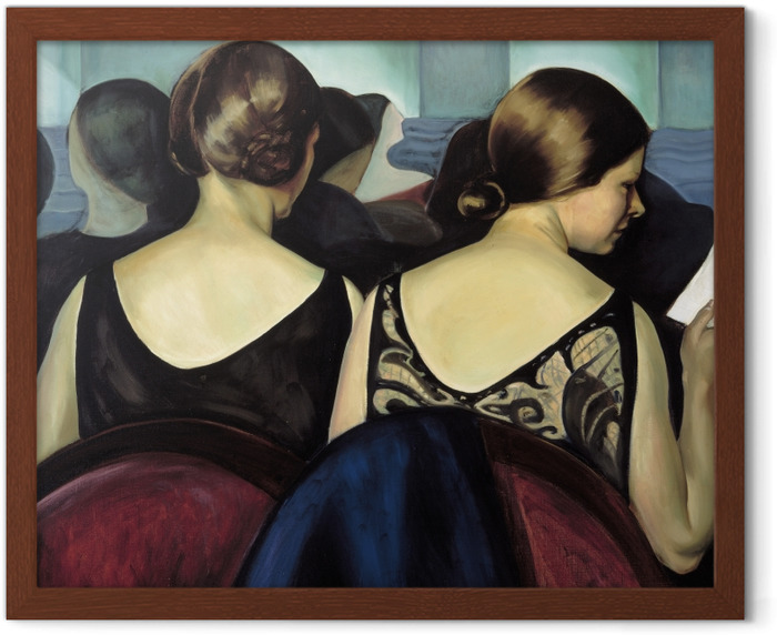 Poster i Ram Efa Prudence Heward - In het theater - Reproductions
