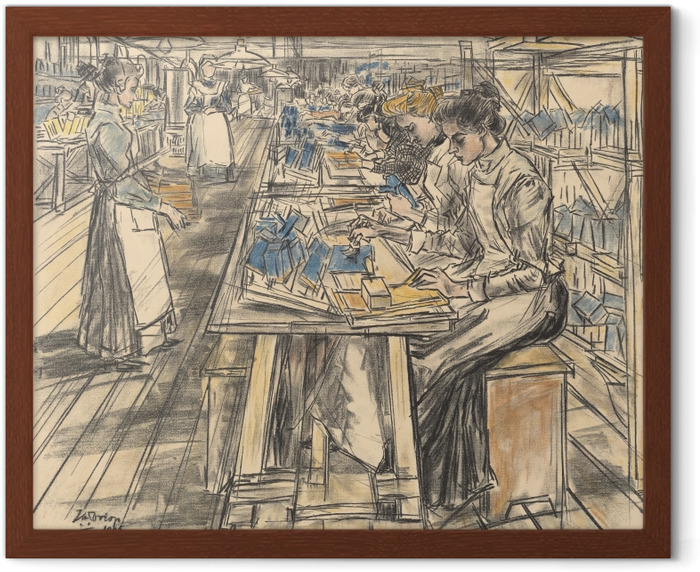 Jan Toorop - Candle Factory in Gouda, 5 Framed Poster - Reproductions