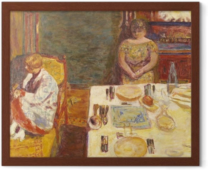 Pierre Bonnard - Before Dinner Framed Poster - Reproductions