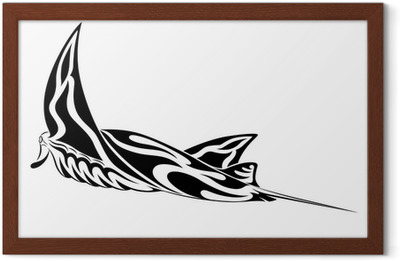 432a1fdd2 Manta Ray, tribal tattoo Poster • Pixers® - We live to change