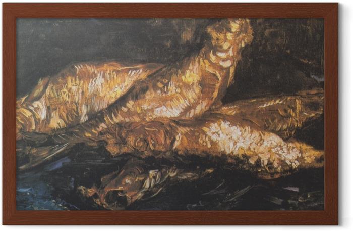 Gerahmtes Poster Vincent van Gogh - Stillleben mit Bücklingen - Reproductions