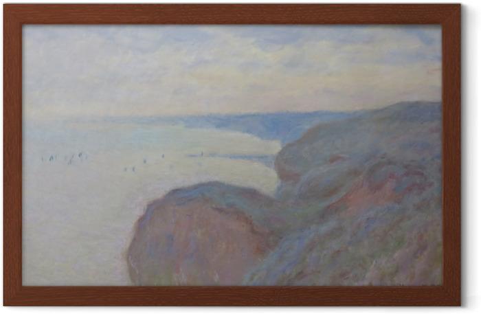 Claude Monet - Steef Cliffs near Dieppe Framed Poster - Reproductions