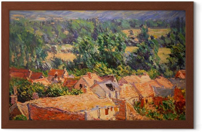 Poster en cadre Claude Monet - Vue du village de Giverny - Reproductions