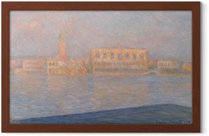 Plakát v rámu Claude Monet - Pohled na Dóžecí palác ze San Giorgio Maggiore - Reprodukce
