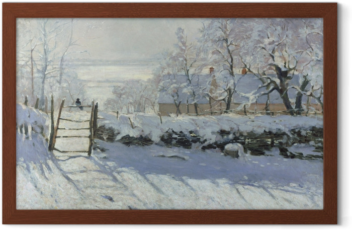 Claude Monet - The Magpie Framed Poster - Reproductions