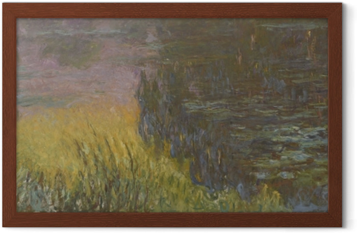 Claude Monet - Waterlilies at Sunset Framed Poster - Reproductions