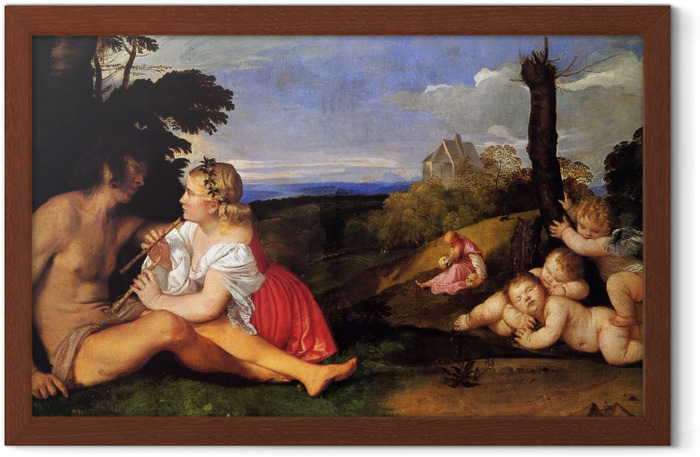 Titian - The Three Ages of Man Framed Poster - Reproductions