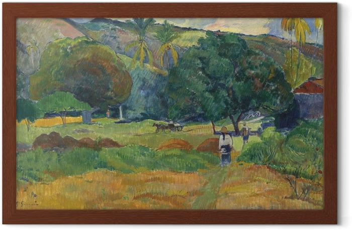 Gerahmtes Poster Paul Gauguin - Das Tal - Reproduktion