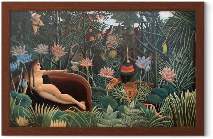 Henri Rousseau - The Artist Painting His Wife Framed Poster - Reproductions