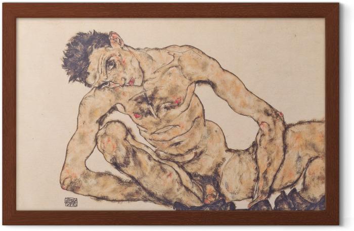 Egon Schiele - Nude Self-Portrait Framed Poster - Reproductions