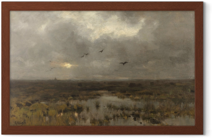 Anton Mauve - The Swamp Framed Poster - Reproductions