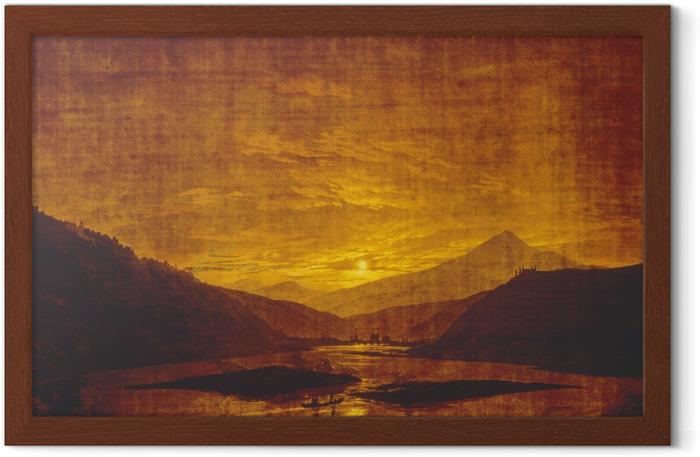 Caspar David Friedrich - Mountainous River Landscape Framed Poster - Reproductions