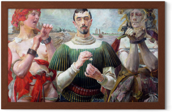 Gerahmtes Poster Jacek Malczewski - Polnischer Hamlet - Reproductions