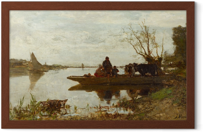 Jacob Maris - Ferry Framed Poster - Reproductions
