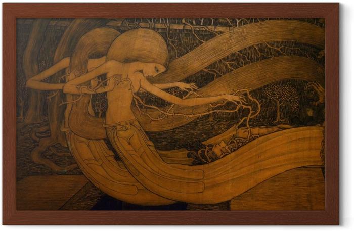 Poster en cadre Jan Toorop - Ô tombe, où est ta victoire ? - Reproductions