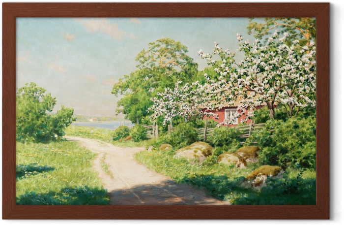 Johan Krouthén - Country Road Framed Poster - Reproductions