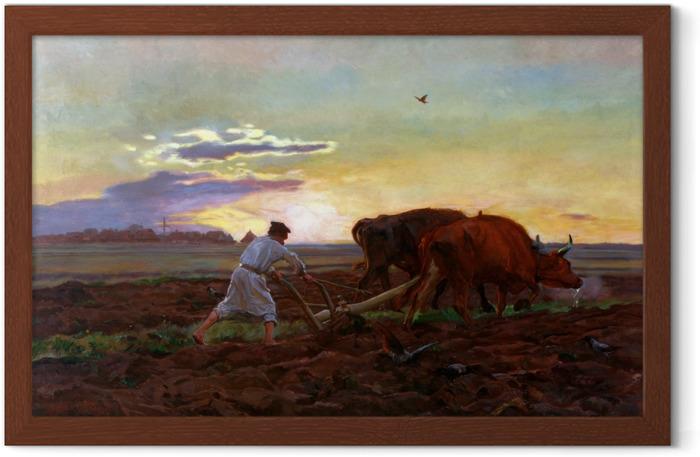 Plakát v rámu Józef Chełmoński - обработка почвы - Reproductions