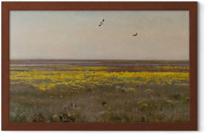 Józef Chełmoński - Marsh-marigolds Framed Poster - Reproductions