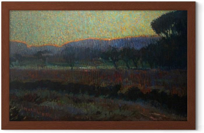 Plakat w ramie Leo Gestel - Dolina z drzewami - Reproductions