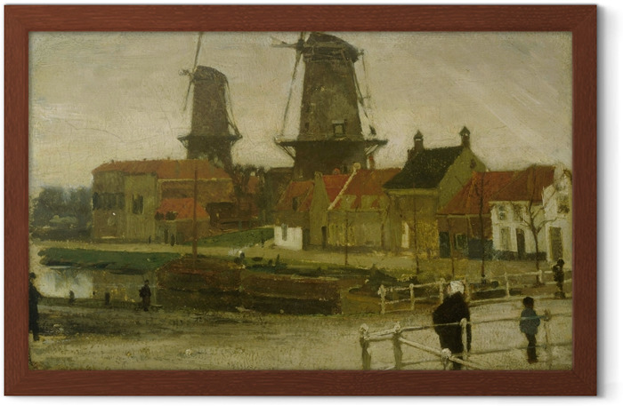 Matthijs Maris - A Corner of the Hague Framed Poster - Reproductions