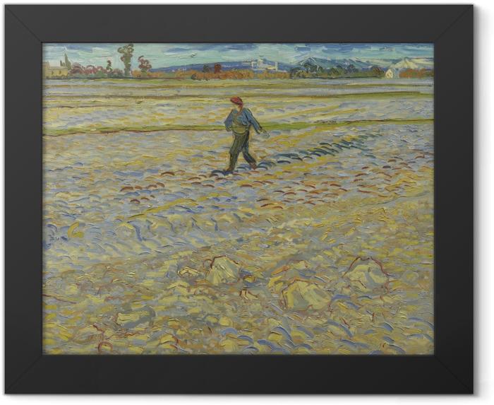 Gerahmtes Poster Vincent van Gogh - Der Sämann - Reproductions