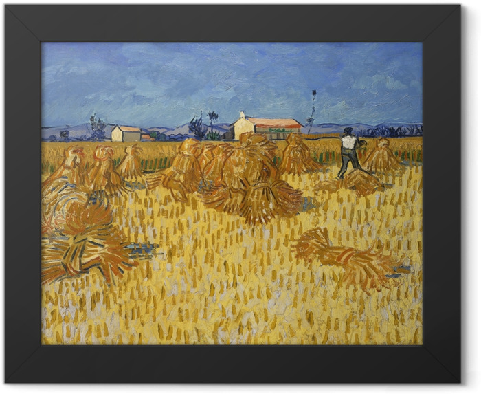 Gerahmtes Poster Vincent van Gogh - Ernte in der Provence - Reproductions