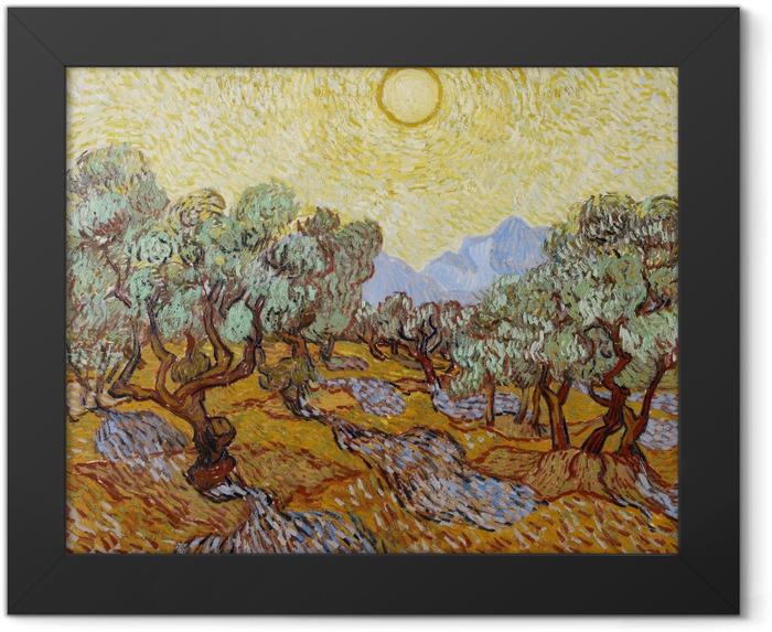 Poster en cadre Vincent van Gogh - Champ d'oliviers - Reproductions