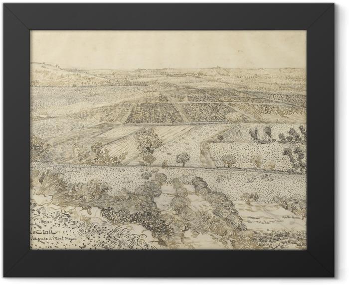 Poster en cadre Vincent van Gogh - La Crau vu de Montmajour - Reproductions