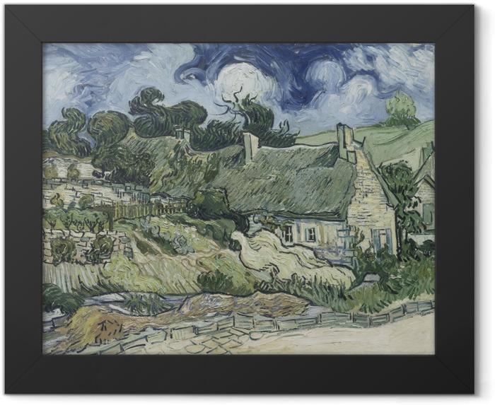 Poster en cadre Vincent van Gogh - Paysage avec Cottages - Reproductions